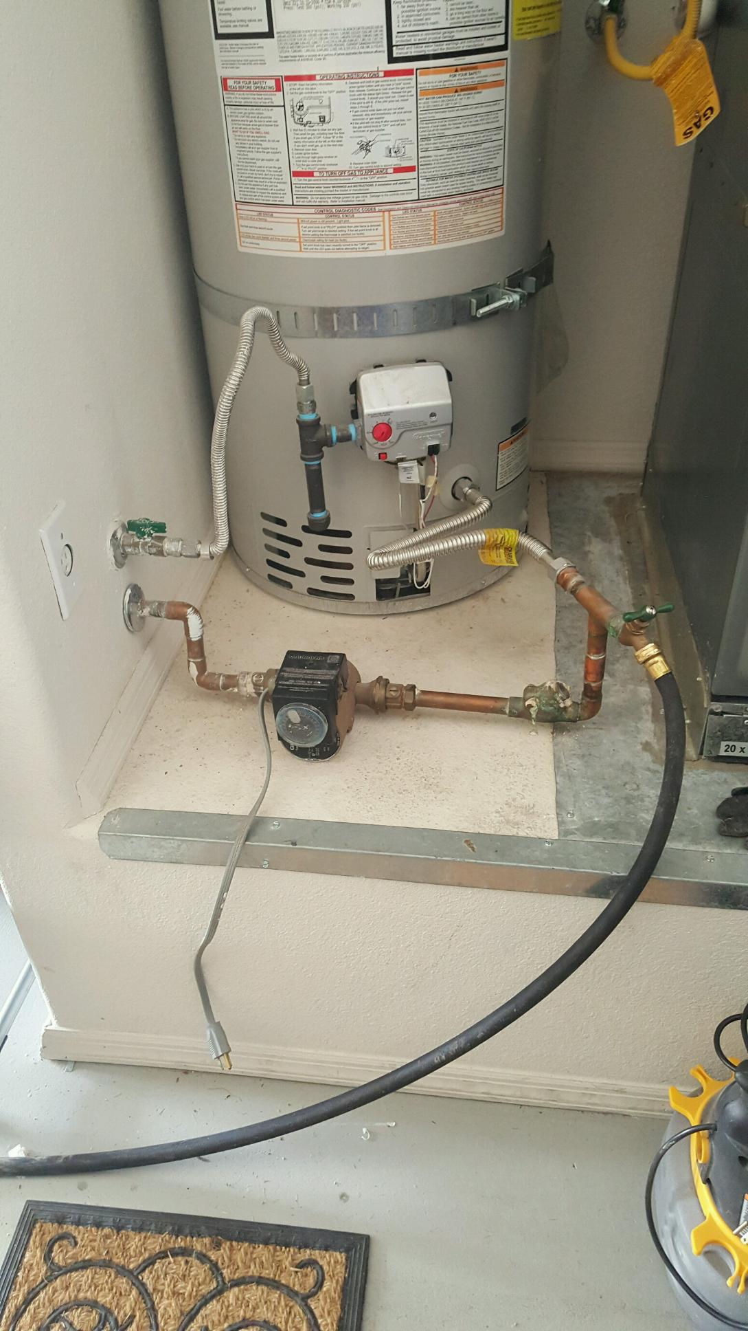Recirulation pump before