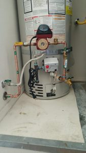 Recirulation pump installation